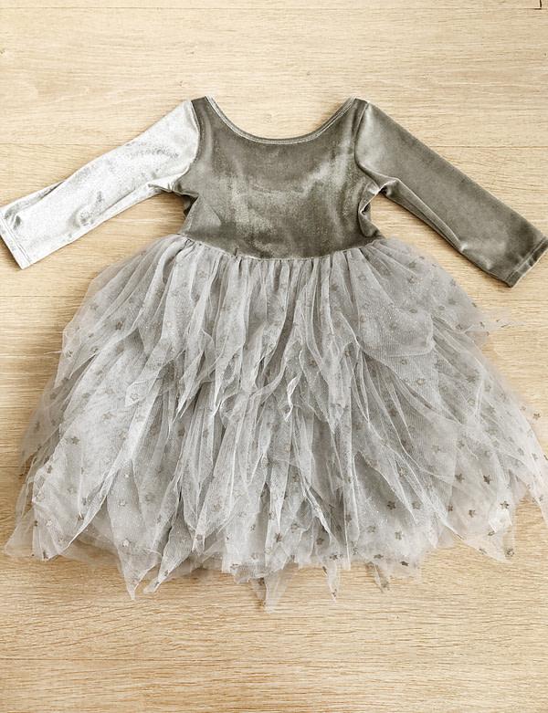 sivé tutu šaty