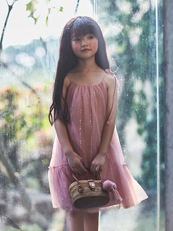 ružovo-fialové tutu šaty na ramienka
