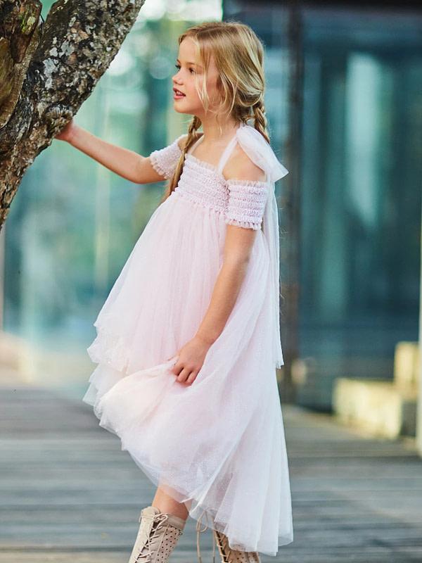 svetloružové tutu šaty