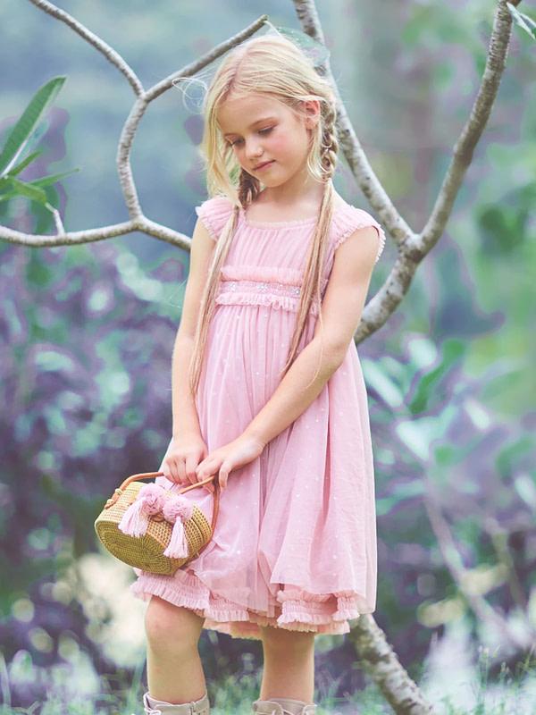 ružovo-fialové tutu šaty