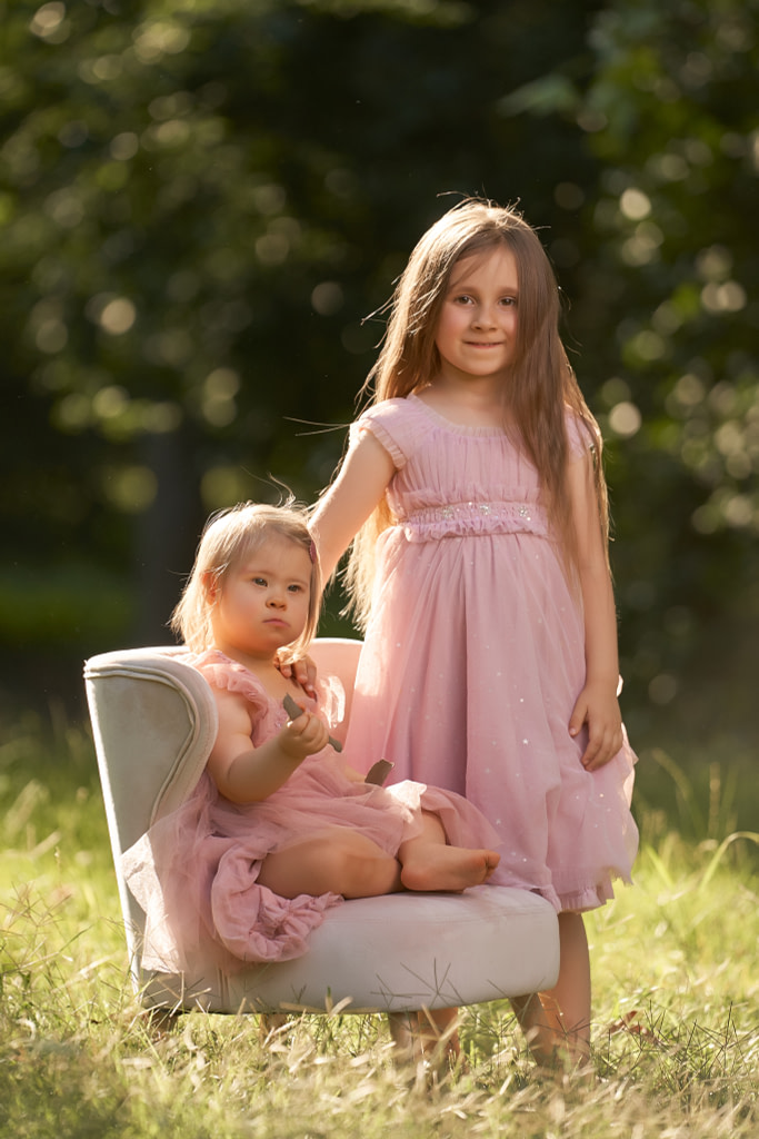 4-ročná Tatianka v tutu šatách Luna Luna Ophelia a 18-mesačná Terezka v tutu šatách Luna Luna Faith